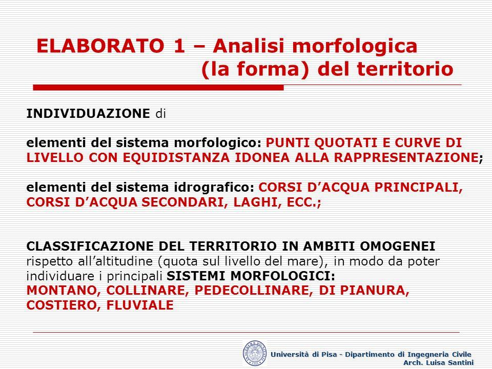 ELABORATO 1 – Analisi morfologica (la forma) del territorio