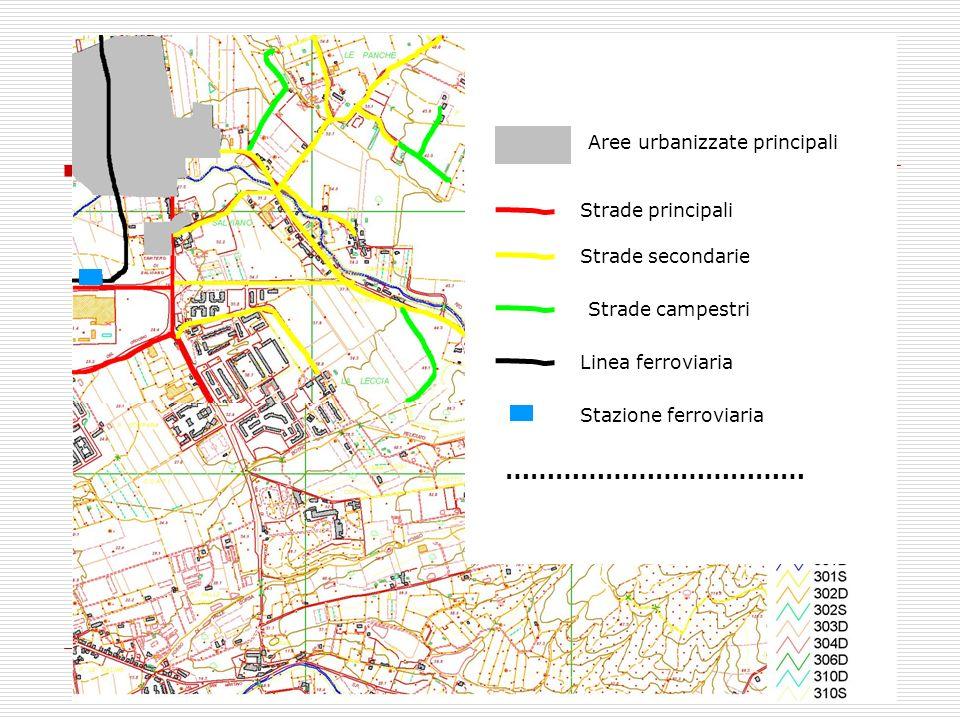 LEGENDA ……………………………… Aree urbanizzate principali Strade principali