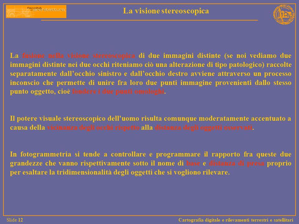 La visione stereoscopica