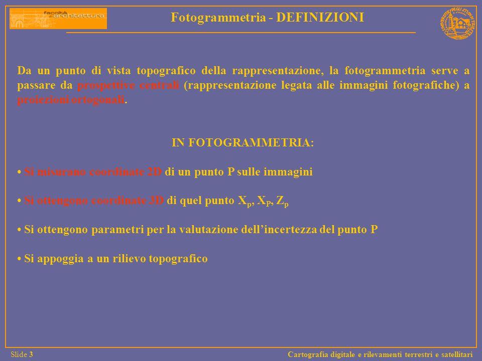 Fotogrammetria - DEFINIZIONI