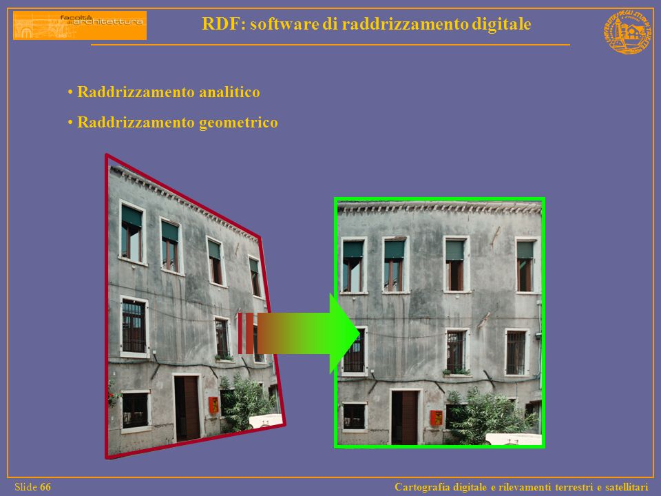 RDF: software di raddrizzamento digitale