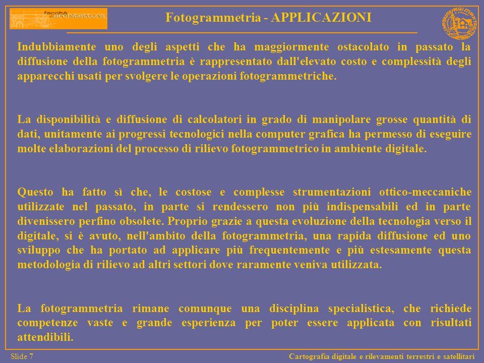 Fotogrammetria - APPLICAZIONI