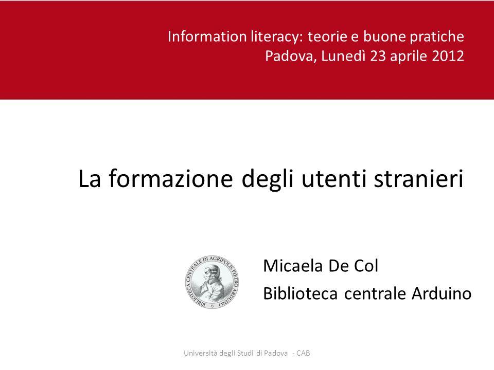 Università degli Studi di Padova - CAB
