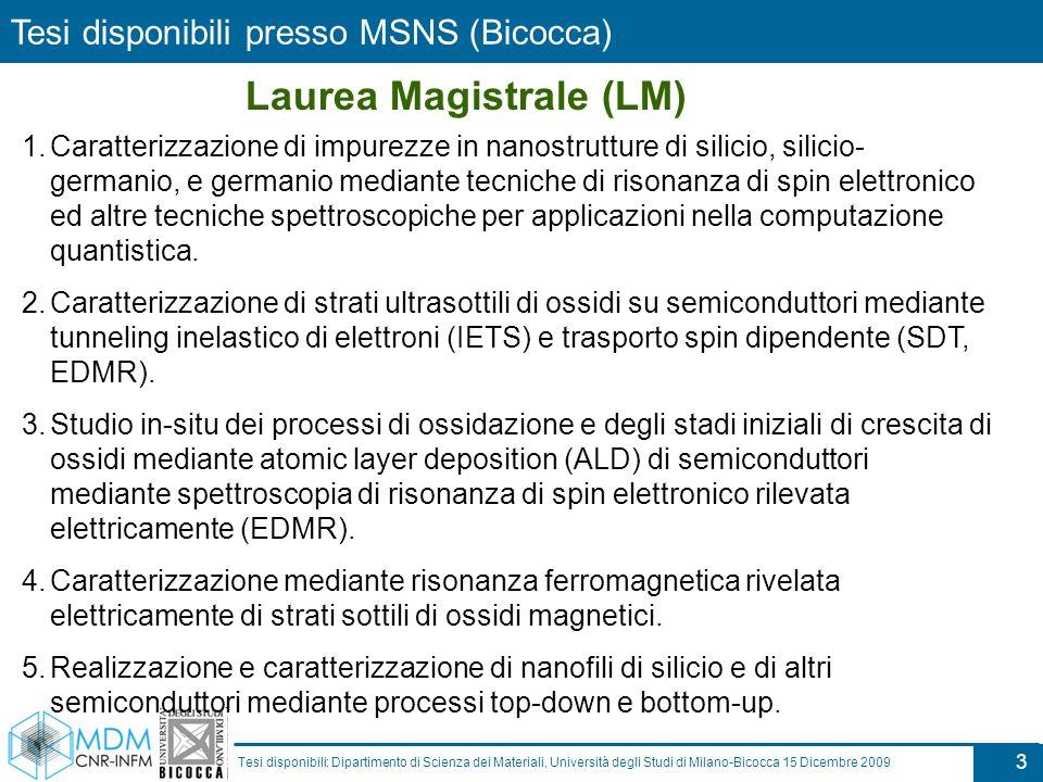 Laurea Magistrale (LM)