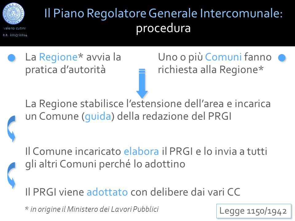 Il Piano Regolatore Generale Intercomunale: