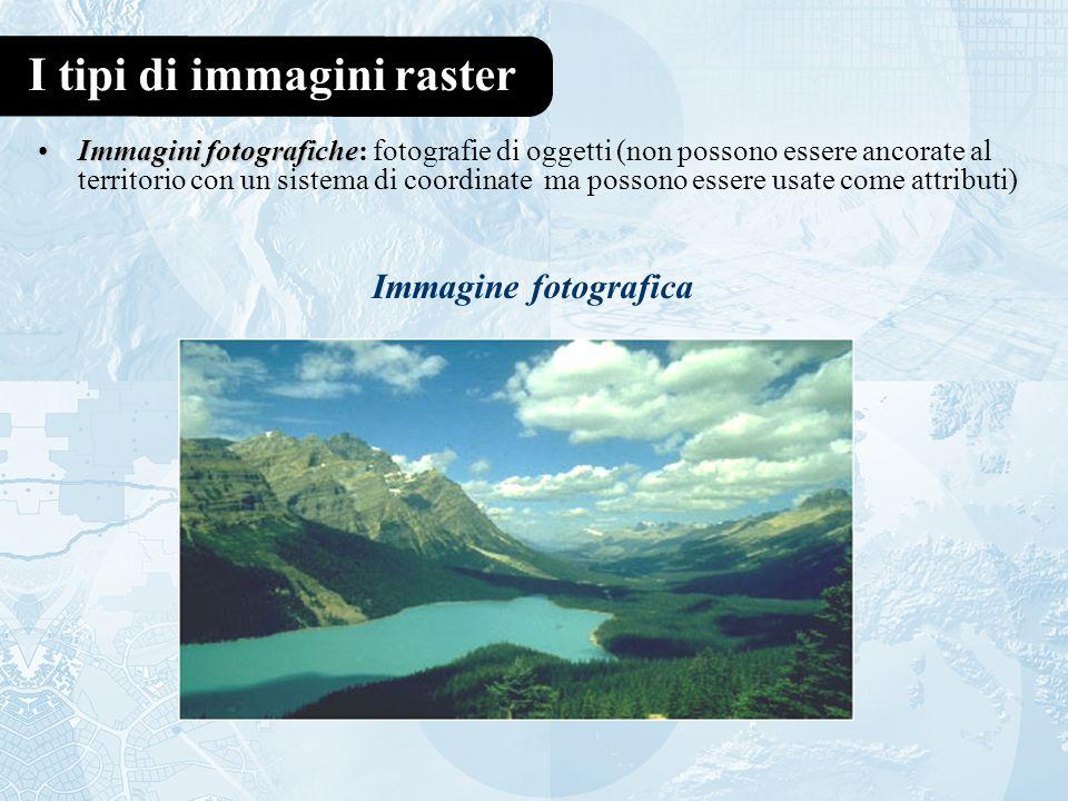 I tipi di immagini raster
