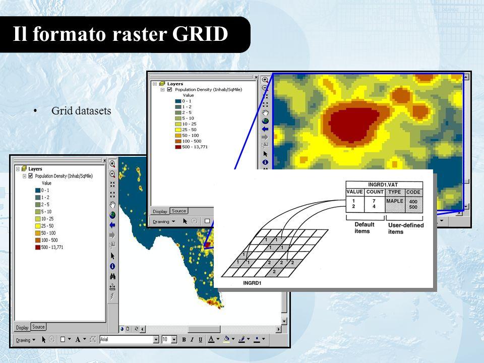 Il formato raster GRID Grid datasets