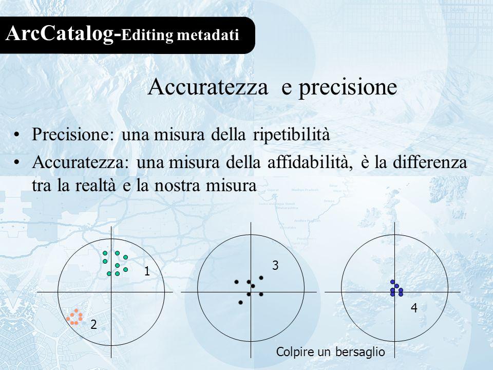 Accuratezza e precisione
