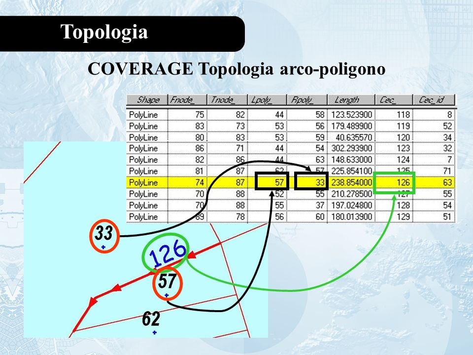 COVERAGE Topologia arco-poligono