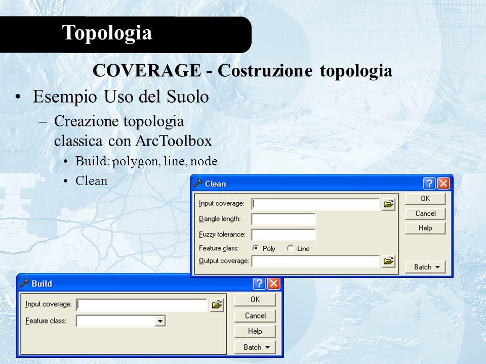 COVERAGE - Costruzione topologia