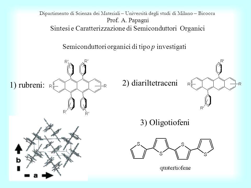 Semiconduttori organici di tipo p investigati