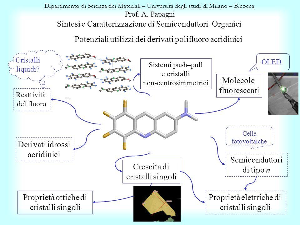 Potenziali utilizzi dei derivati polifluoro acridinici