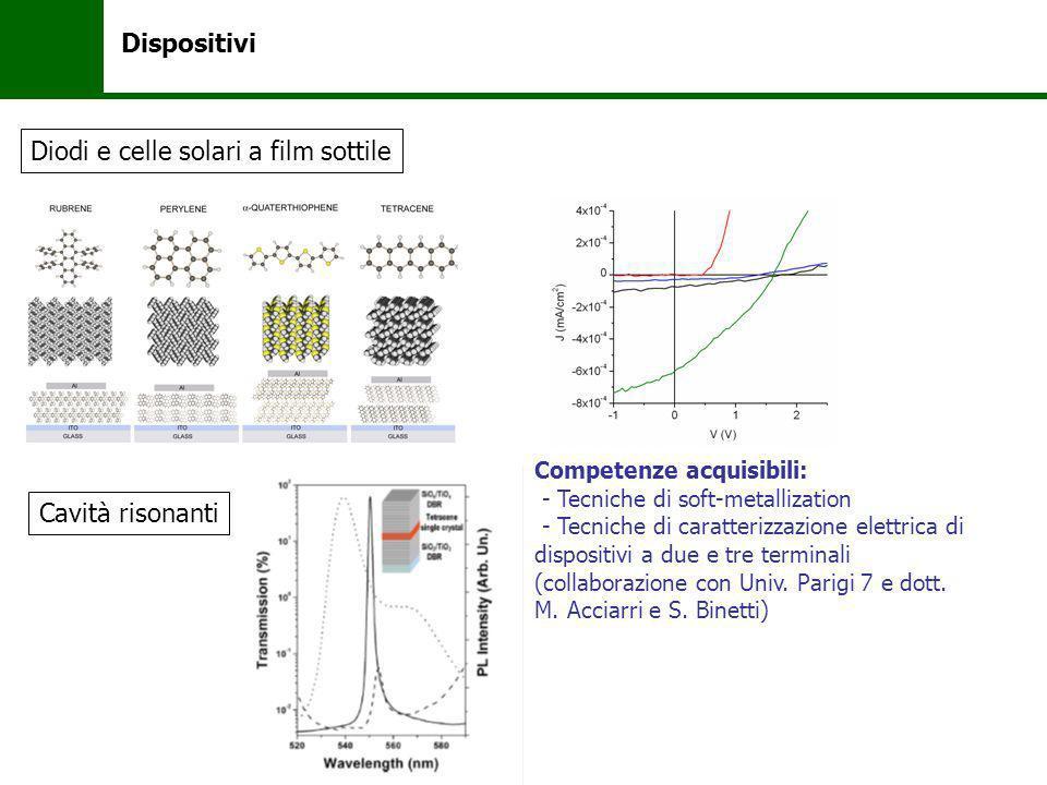 Diodi e celle solari a film sottile