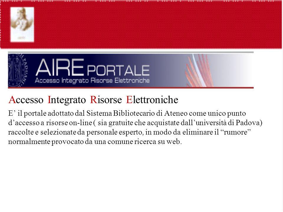 Accesso Integrato Risorse Elettroniche