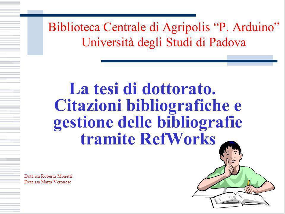 Biblioteca Centrale di Agripolis P