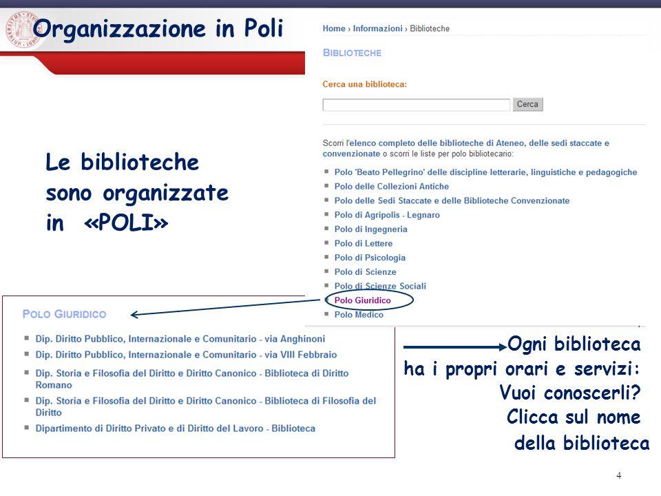 Organizzazione in Poli