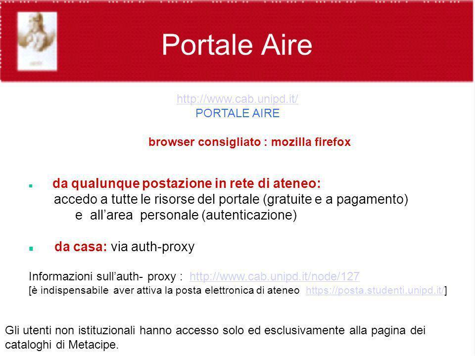 browser consigliato : mozilla firefox