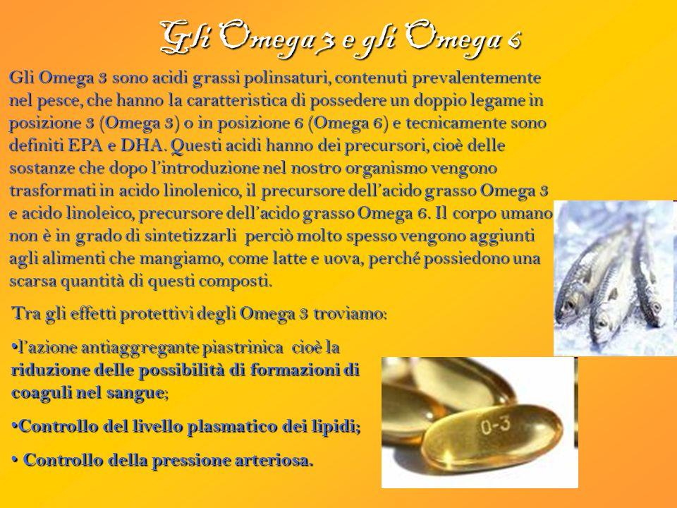 Gli Omega 3 e gli Omega 6