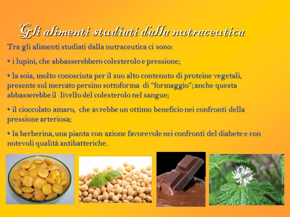 Gli alimenti studiati dalla nutraceutica