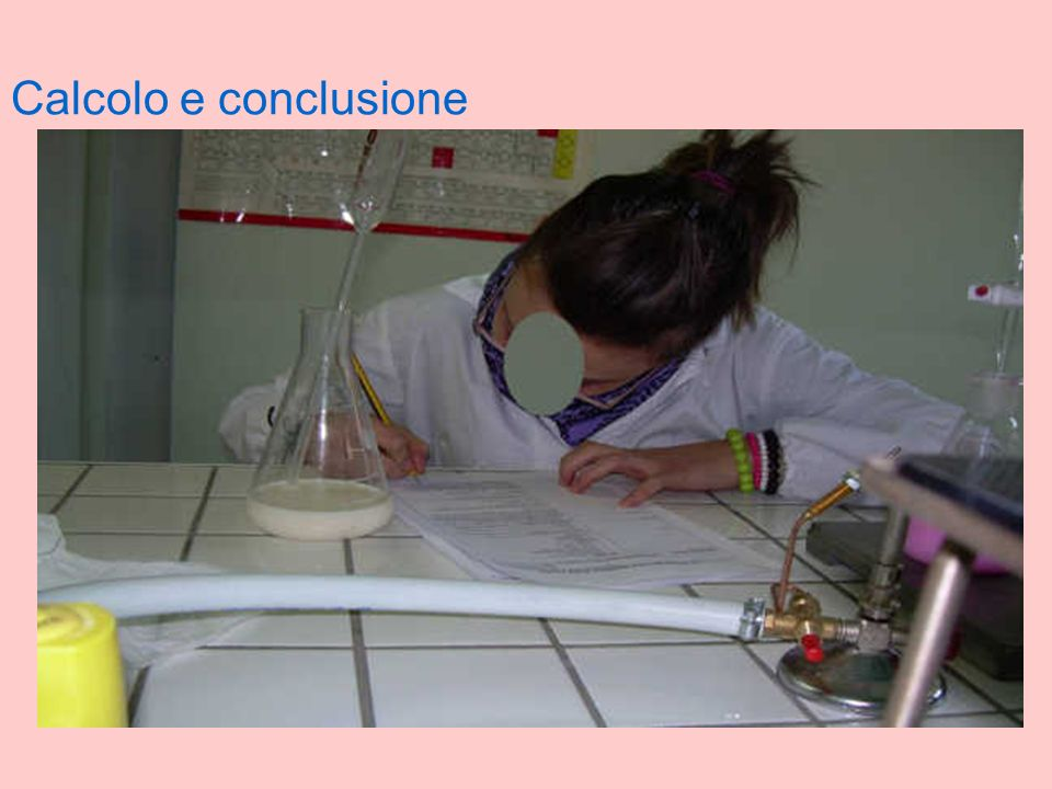 Calcolo e conclusione