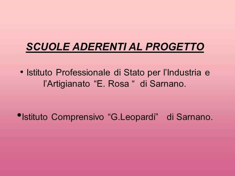 SCUOLE ADERENTI AL PROGETTO • Istituto Professionale di Stato per l'Industria e l'Artigianato E.
