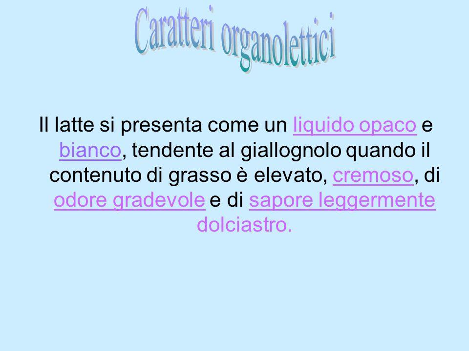 Caratteri organolettici