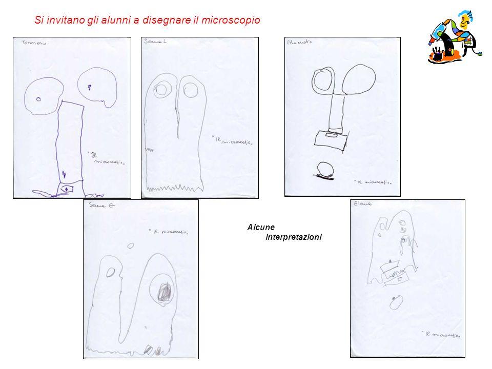 Si invitano gli alunni a disegnare il microscopio