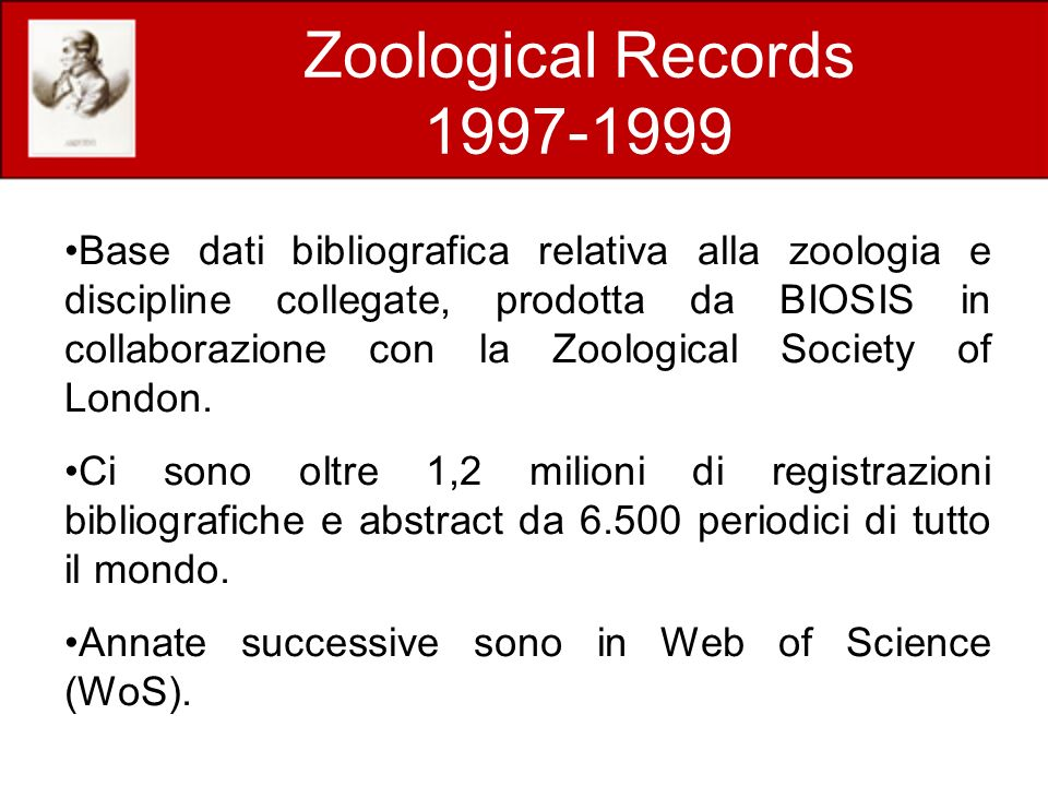 Zoological Records 1997-1999