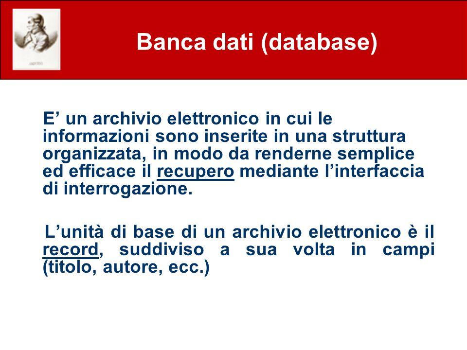 Banca dati (database)