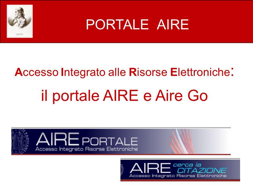 il portale AIRE e Aire Go