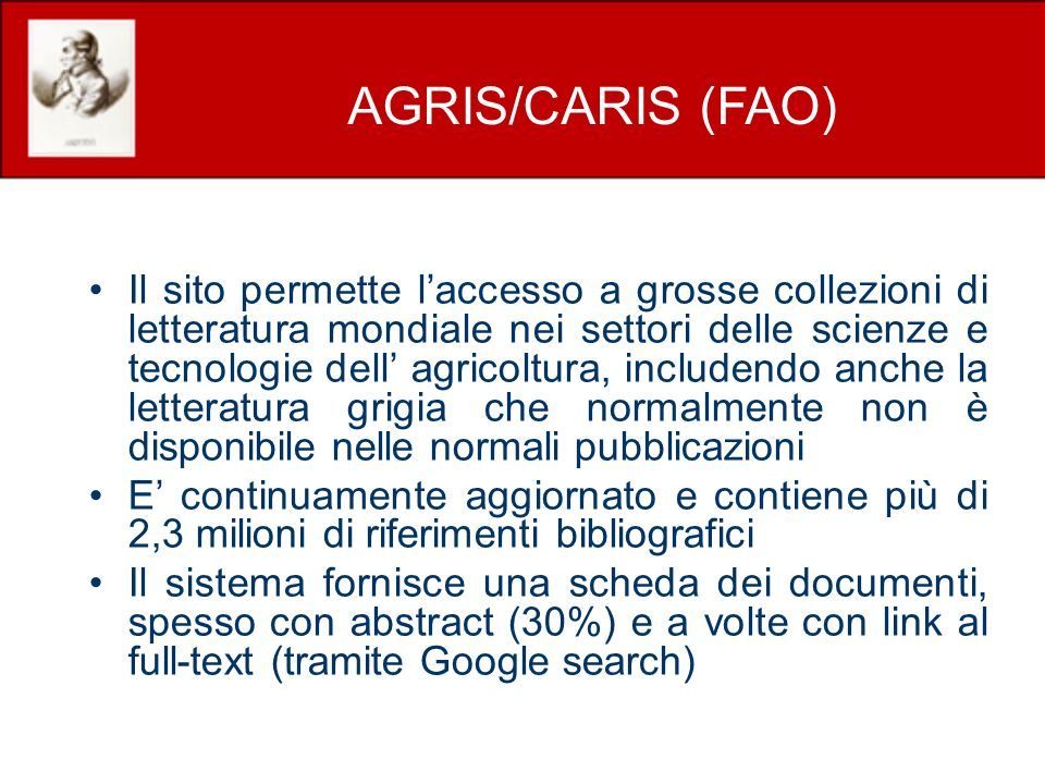 AGRIS/CARIS (FAO)