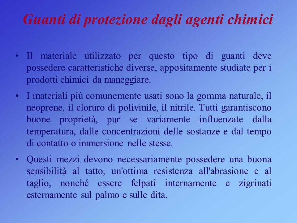 Guanti di protezione dagli agenti chimici