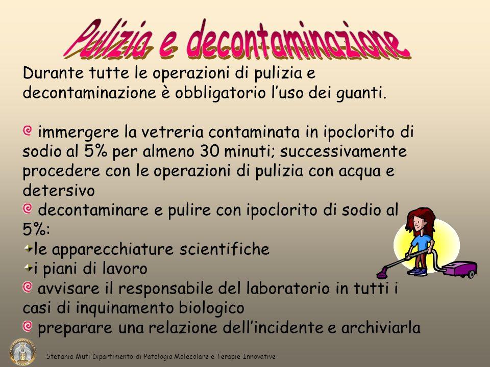 Pulizia e decontaminazione
