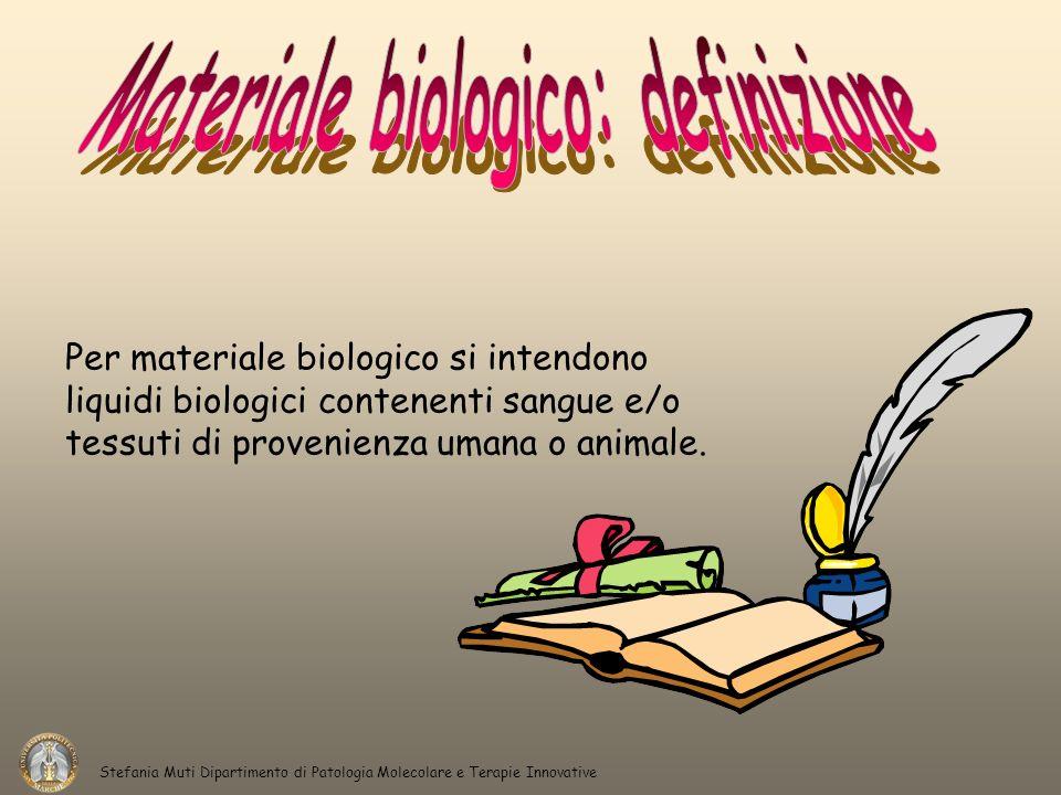 Materiale biologico: definizione