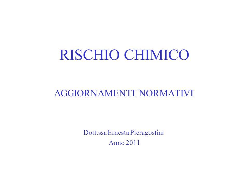 AGGIORNAMENTI NORMATIVI Dott.ssa Ernesta Pieragostini Anno 2011
