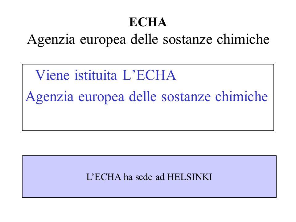 ECHA Agenzia europea delle sostanze chimiche