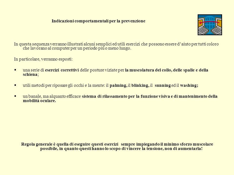 Indicazioni comportamentali per la prevenzione