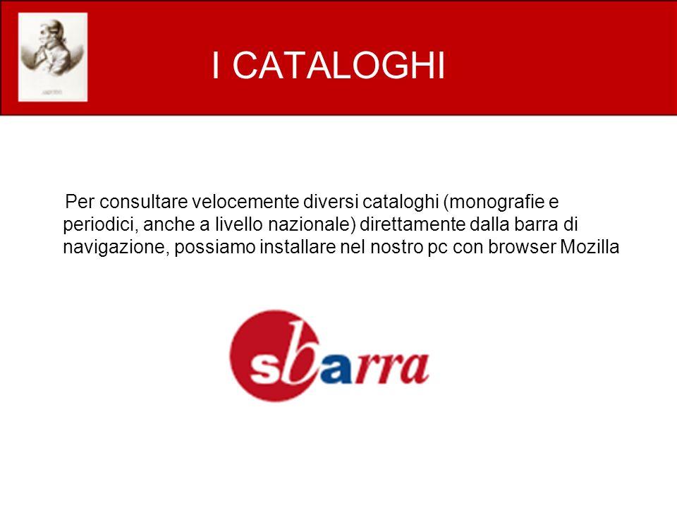 I CATALOGHI