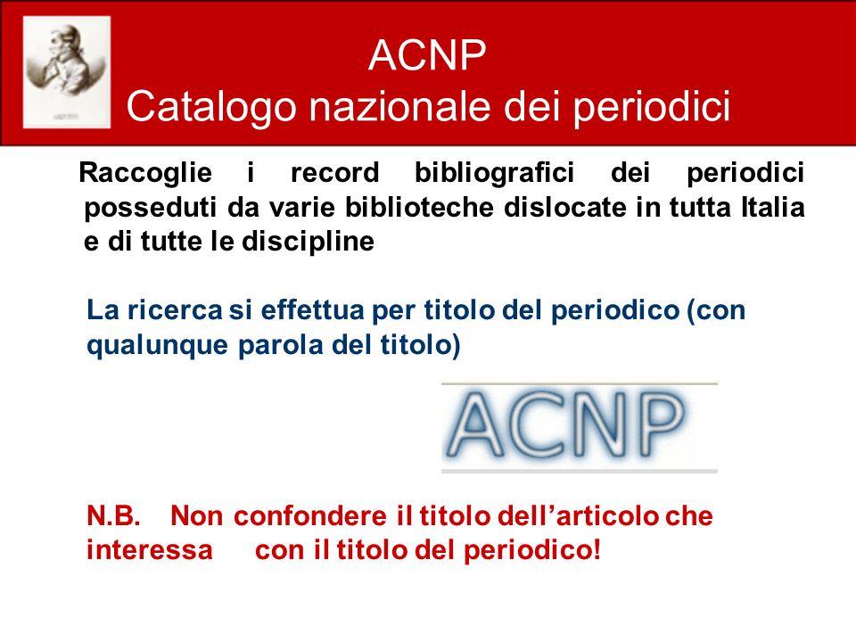 ACNP Catalogo nazionale dei periodici