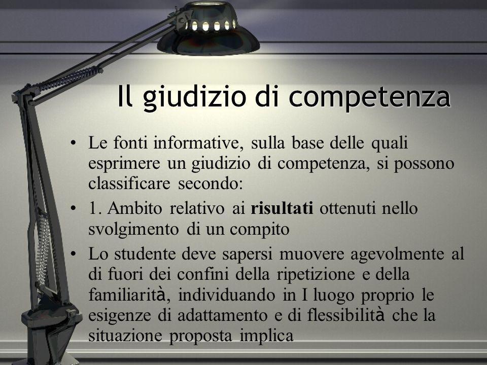 Il giudizio di competenza