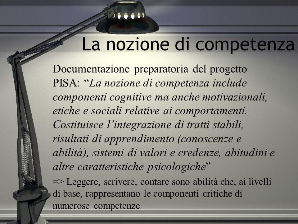 La nozione di competenza