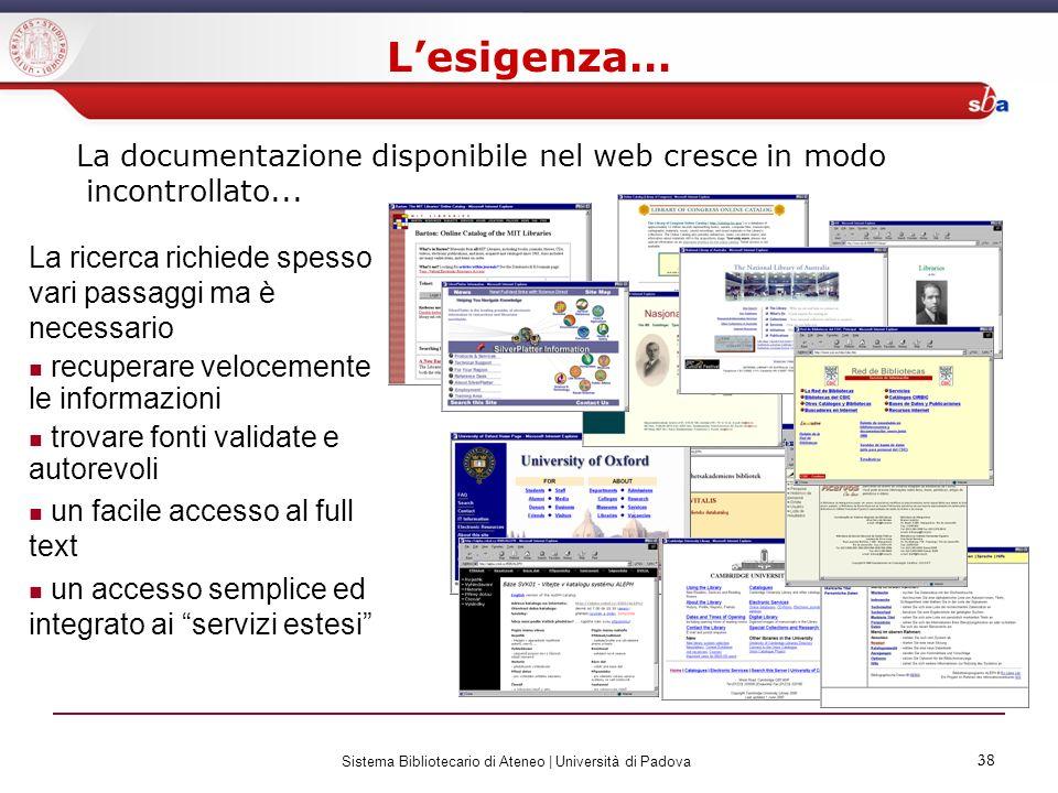 Sistema Bibliotecario di Ateneo | Università di Padova