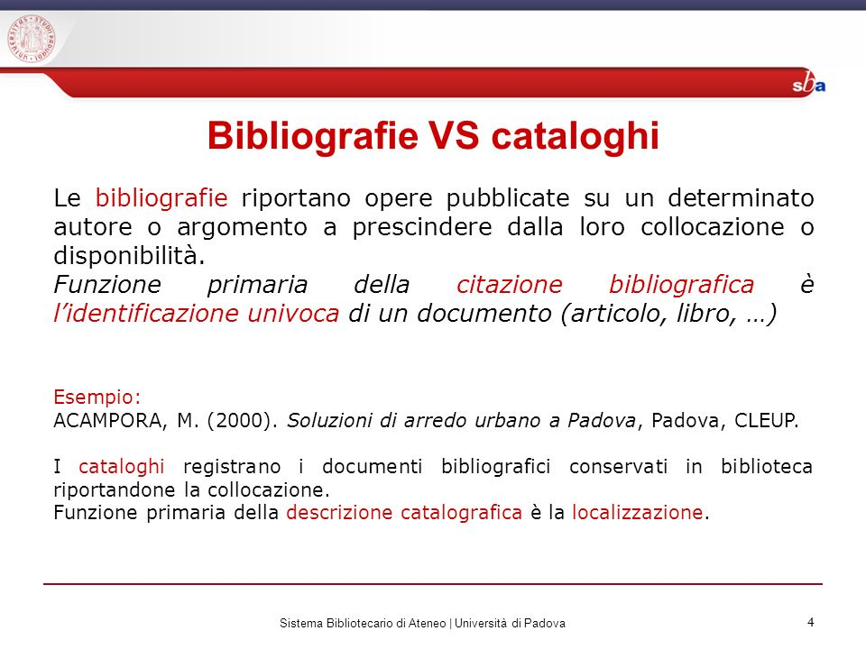 Bibliografie VS cataloghi