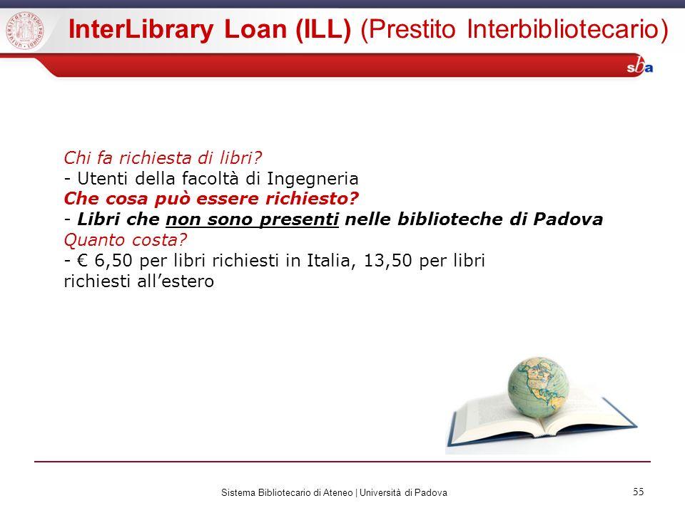 InterLibrary Loan (ILL) (Prestito Interbibliotecario)