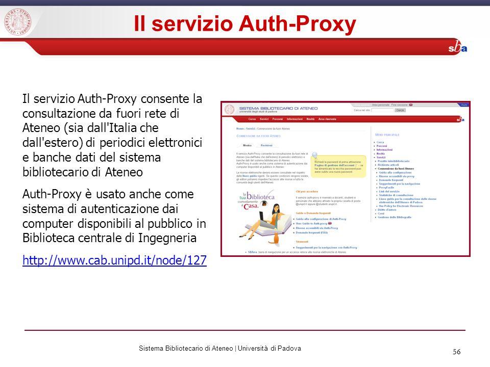 Il servizio Auth-Proxy