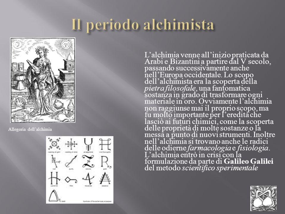 Il periodo alchimista