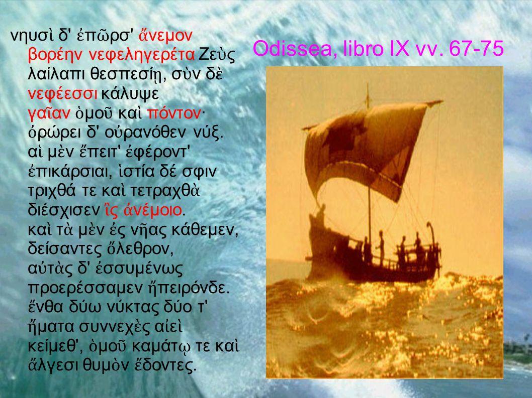 Odissea, libro IX vv. 67-75