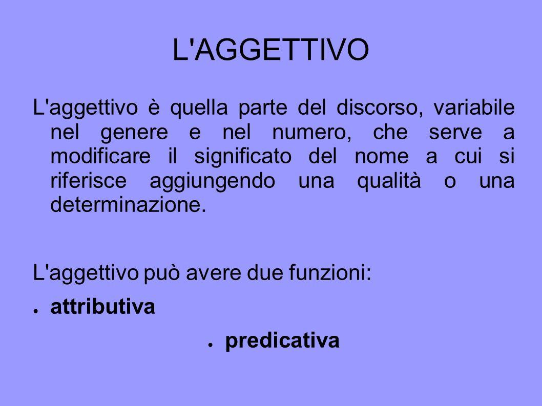 L AGGETTIVO