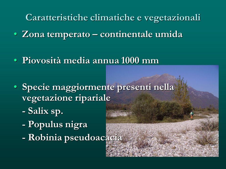 Caratteristiche climatiche e vegetazionali