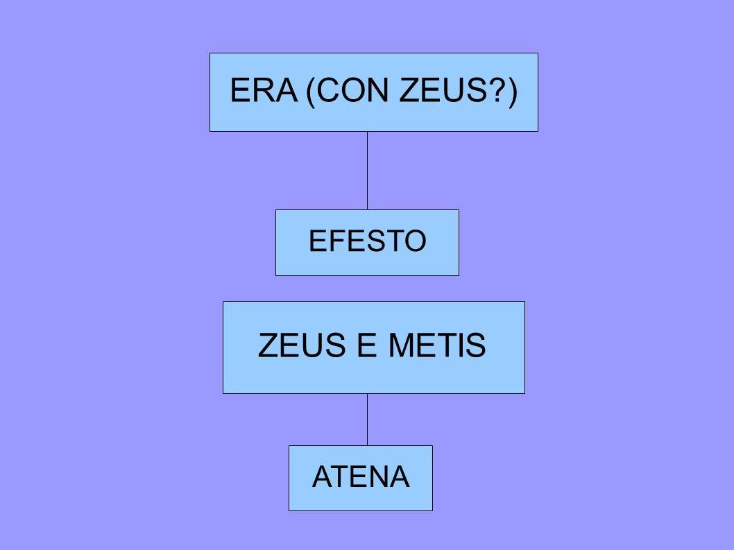 ERA (CON ZEUS ) EFESTO ZEUS E METIS ATENA